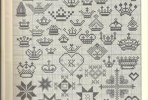 Norské vzory, filetové háčkování