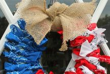 Patriotic DIY Projects / Festive DIY crafts for Memorial Day, Labor Day and the Fourth!