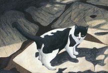 Peintre (Carol Wilson) / Animalier : chats...