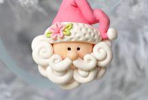 apliques navideños en porcelana fria