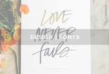 // F O N T S / Design - fonts - typography