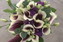Purple Wedding Flowers / Wedding Flowers, Brides Bouquets,