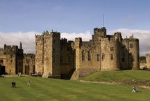 Alnwick Castle in Northumberland / Discover the glorious Medieval Alnwick Castle,  home to the Duke of Northumberland's family, the Percys, for more than 700 years. Known to fans of the Harry Potter films as the  location for Hogwarts school.Contact Alnwick Tourist Information Centre on Tel: +44 01665 511333 or email alnwick.tic@northumberland.gov.uk for discounted tickets