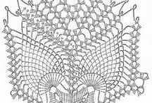 Hækling - doilys / Hæklede doilys - mønstre og inspiration