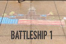 Battleship Chalk Artwork
