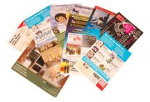 Leaflets and Flyers / We print various sizes, colours and paper thickness of flyers and leaflets
