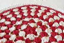 red and white round
