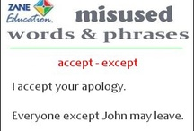 "Misused Words / Often two words can sound similar but have completely different meanings. Here are many of those misused words with each ""flashcard"" demonstrating for you the difference and providing example sentences showing how those words should be used correctly."