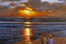 art sunset sun