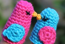 Finger puppets / Knitted and crochet finger puppets