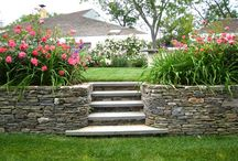 Retaining walls and step stairs