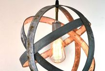 Wine barrel rings hanging