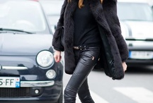 Fur coats winter look