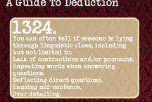 Deduction / by Katelynn Bolte