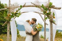 Outdoor Wedding  / How to prepare where the bride and groom will stand.