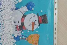 zimní výtvarné inspirace
