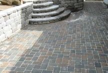 stone patio/path