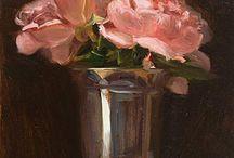 Ptg - roses in silver goblet