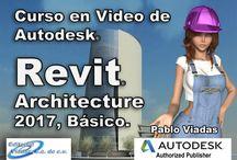 Revit 2017 / Cursos, Tutoriales en español de Revit 2017 para Diseño arquitectonico, Arquitectura, Renders, 3D,