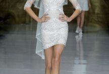 wedding dress / like short style wedding dress