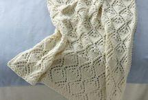 strikkede baby tæpper