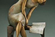 Books sculptures