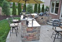 Custom Charlotte Area Outdoor Kitchens / Outdoor kitchen design and installation. This includes pictures of all grills, smokers, doors & drawers needed to complete any outdoor kitchen project.