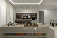 Salas integradas / Ambientes desenhados pelo site www.seusonhodesenhado.com