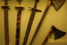 Swords, axes, etc