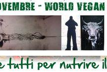 """ll primo Novembre di ogni anno si celebra la Giornata Mondiale Vegan (World Vegan Day) / ll 1 Novembre di ogni anno si celebra la Giornata Mondiale Vegan (World Vegan Day) vengono organizzati numerose iniziative volte a far conoscere lo stile di vita vegano"""" Le scelte che facciamo non influenzano solo la nostra vita, ma anche quella degli altri: dal momento che i destini di tutte le specie su questo pianeta sono strettamente Connesse"""