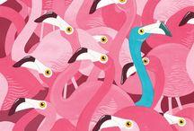 Flamingo / flamingo love, pink