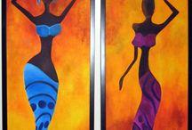 Akvarel Afrika 02 / Akvarel
