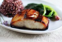 black cod, marinade  with miso.