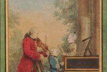 Musik im 18. Jhdt. (Porträts mit Musikinstrumente)
