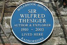 Milebrook House  - Sir Wilfred Thesiger / Sir Wilfred Thesiger lived at Milebrook House Hotel, Knighton