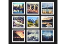 Instagram Photo Collages / Nifty products created by myself or others with square photo templates to be customized with Instagram photographs.
