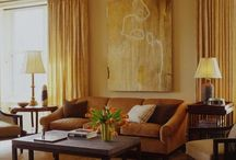 earth toned and monochromatic rooms with art / interiors . art . design . homes . decor