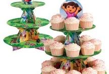 Alexandra's 3rd birthday- Dora theme / by Noelle Corris