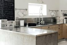 Steel wood kitchens