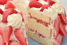 Strawberry & cream cake / Cake