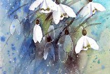 aqua fleurs-bouquets