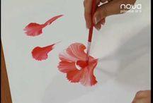 Pintar claveles