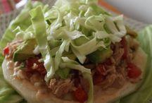 tostada de Jicama con atun