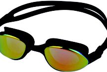 Goggles  / Mirrored Racing Goggles to reduce glare. Soft silicone frame and gasket for ultimate in comfort and durability.