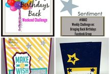 Weekly Sketch Challenges / Each week there is a new SKETCH CHALLENGE on the BRINGING BACK BIRTHDAYS Facebook Group.  Come join the fun!
