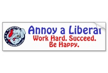 Annoy A Liberal Bumper Sticker / Funny Annoy A Liberal Bumper Sticker