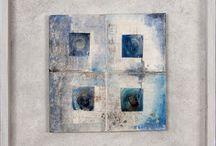 Lorenzo Malfatti per Livin'art / Serie MICROCOSMI materiali variegati, continue apposizioni per opere poliedriche