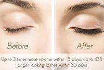 Eyes / Lash extending mascara with peptides to promote long, think lashes.