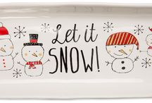 Snow Pals by Pavilion / Snow Pals is the newest addition to our collections designed by Amylee Weeks. Great holiday patterns featuring snowmen and winter birds achieve a very unique look on functional table top and serving pieces. The combination of black, tan and red makes this line cutting edge and very current.
