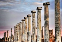 Columns in the colonnaded street at Perge  / by Sezer Özkara